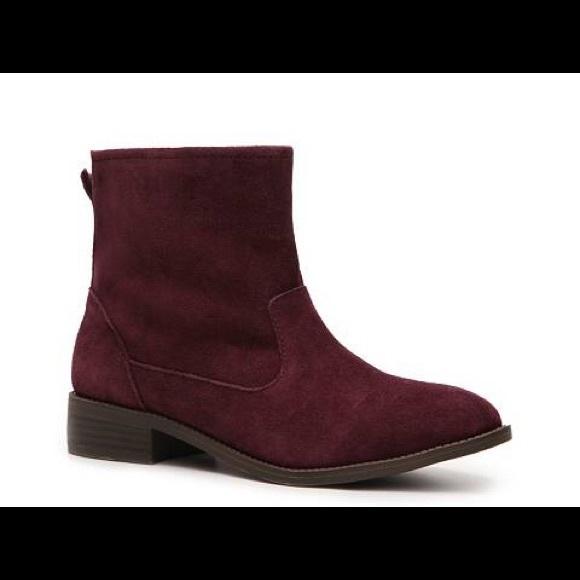 1a5deea060fe3 Mia burgundy exhibitt suede ankle boots Sz 8. M_5a5c16319d20f0e7df313026